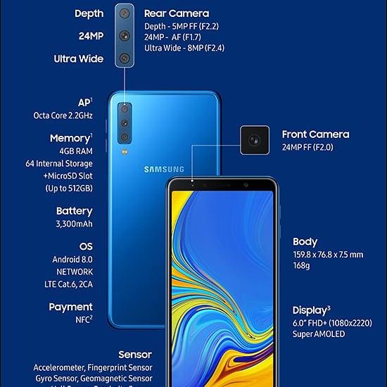 SAMSUNG A7 (2018) 國際版 4+128GB