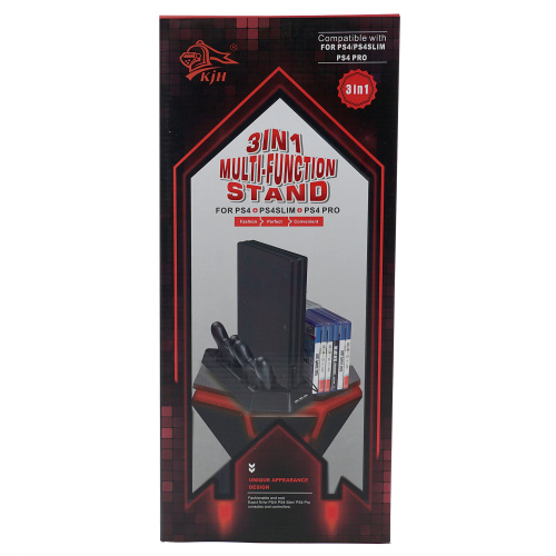 PS4三合一多功能支架底座雙充通用支架 For PS4/PS4 SLIM/PS4 PRO