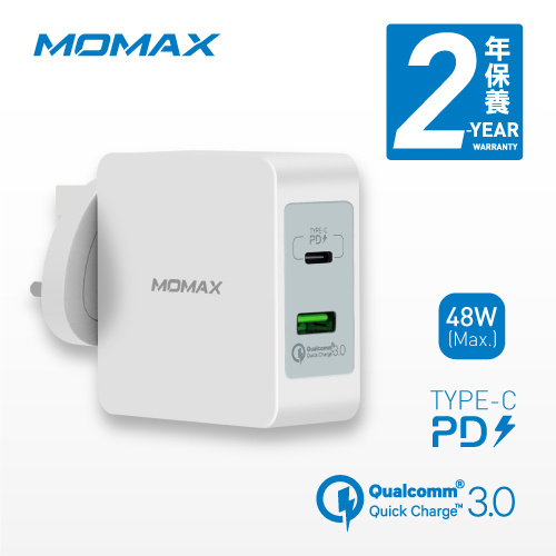 ONE Plug USB + Type C 雙插口智能快速充電器 UM8UK [2色]