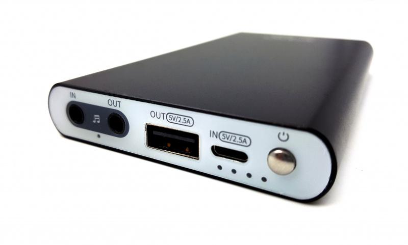 Artextreme 二合一耳擴移動電源 PA03C 8,000mAh [黑色] [增強版]