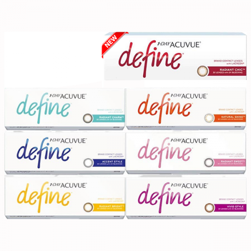 1 Day Acuvue Define 每日即棄色彩隱形眼鏡 [7色]