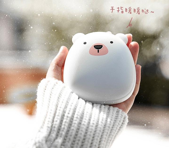可愛動物造型二合一暖手蛋充電器
