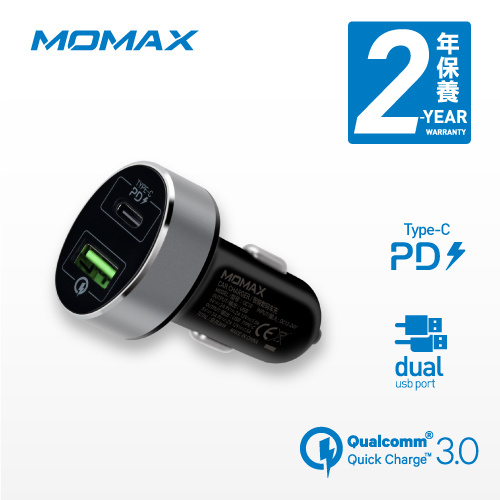 UC 系列 汽車充電器 雙輸出 QC3.0 + Type C 36W max UC10