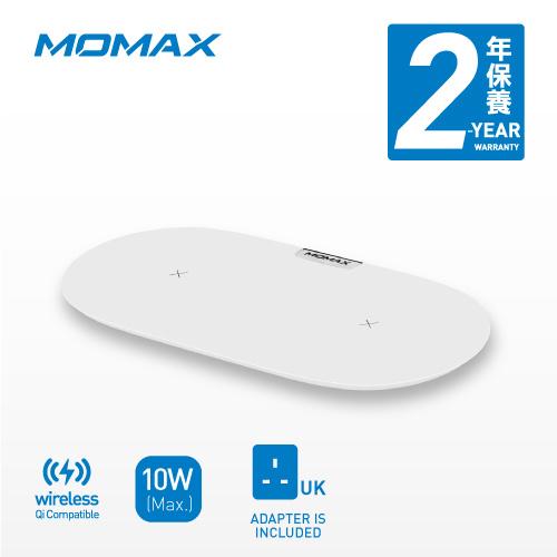 MOMAX Q.Pad Dual 無線雙充電器 UD10 連快充火牛 [3色]