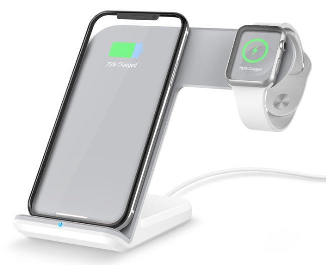 無線充電器(Apple Watch 2合1快速充電座兼容iPhone X / 8/8 Plus)