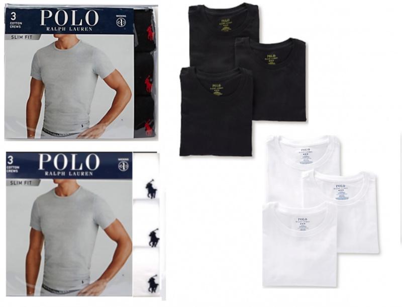 Polo Ralph Lauren 修身圓領T-Shirt 3件裝[2款] (S Size)
