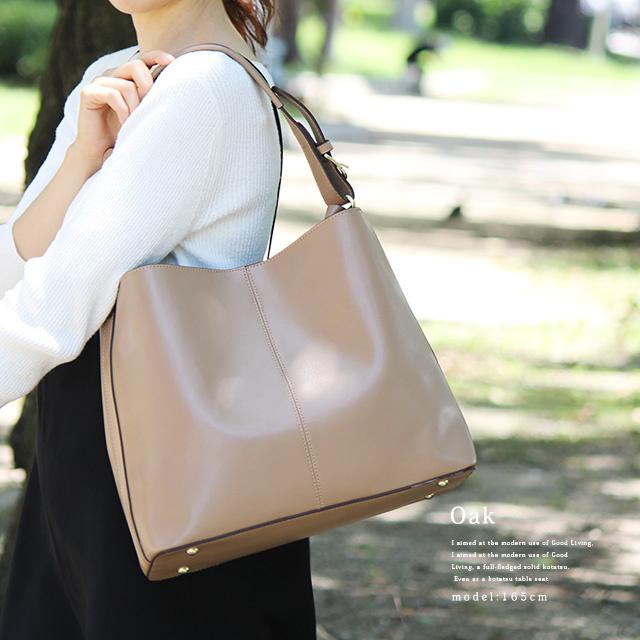 日本牛革 レザーバッグTote Bag [7色]