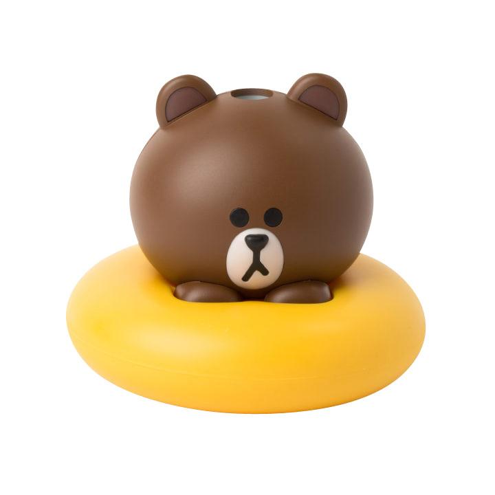 日本LINE friends 熊大USB加湿器 ブラウン