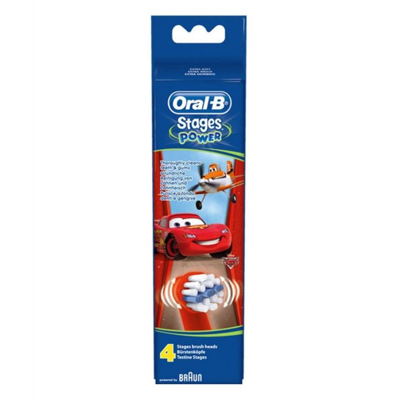 Oral-B 兒童原裝牙刷頭 (4枝裝) [6款]