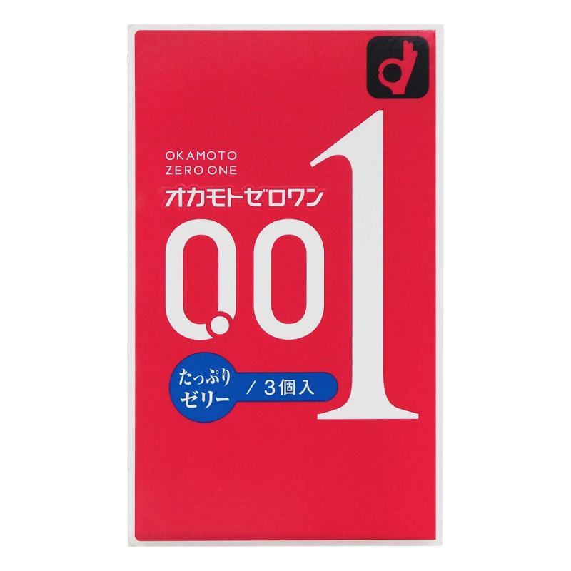 岡本 0.01 (日本版) 潤滑劑加量 3片裝 PU超薄安全套