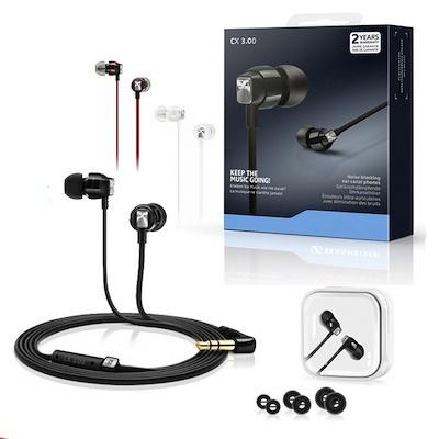 Sennheiser CX 3.00 入耳式耳機 3.5mm 紅色 黑色 IOS版(平行進口)