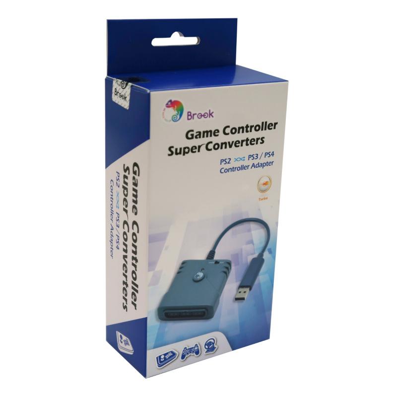 Brook Super Converter PS2手制控制器轉PS3/PS4主機/PC 跨平台控制器轉換器 USB Adapter 支援在PS5上玩兼容的PS4遊戲