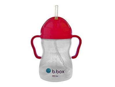 B.box 防漏吸管 學習杯 (8oz) 螢光粉紅色
