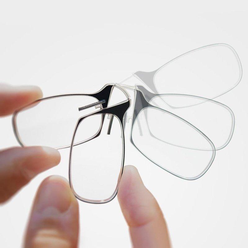 隨身輕薄彎曲摺疊老花眼鏡 [2色3度數]