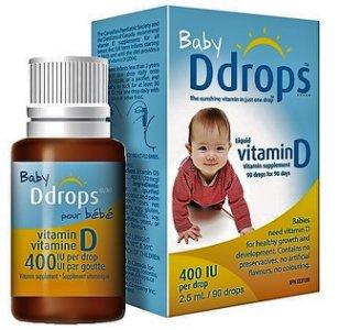 Ddrops 嬰兒維他命D3滴劑  2.5毫升