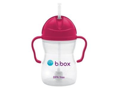 B.Box 防漏吸管 Sippy cup 學習杯 (8oz)  raspberry 紅色
