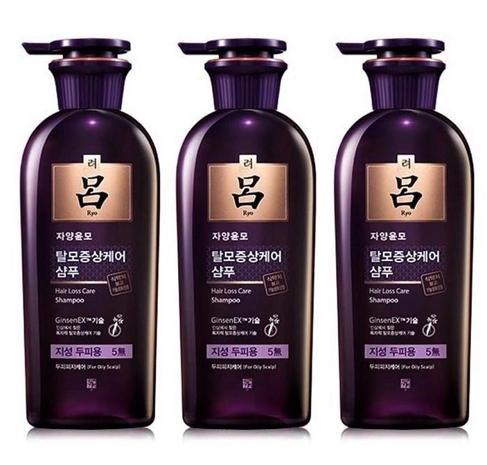 Ryoe 紫呂人蔘強韌防掉髮中乾性套裝 (洗髮水400ml x 3支)