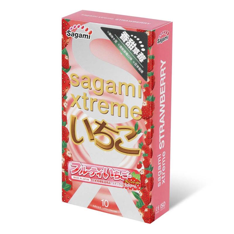 Sagami相模究極 香甜草莓 乳膠安全套 [10 片裝]