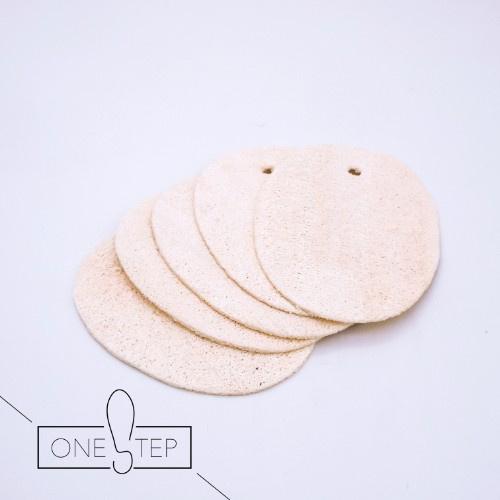 OneSTEP 天然絲瓜絡清潔片 (5片)