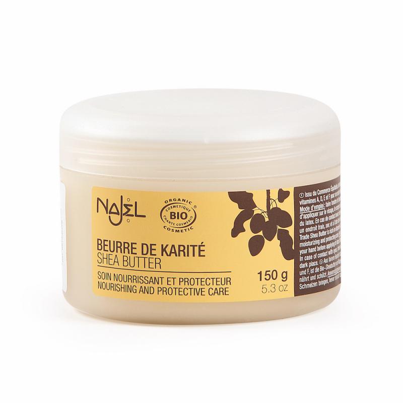 NAJEL - 有機乳木果油3款可選- 天然可可味(150g)/有機原味乳木果脂 (150g)/天然雲呢嗱味(150g)