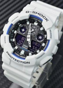 Casio G-Shock GA-100B-7A 雙顯配置手錶