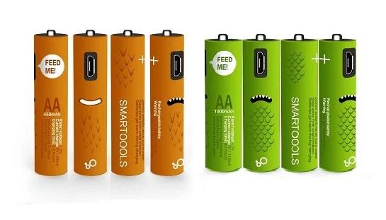 Micro-USB 充電 AA AAA 2A 3A 電芯 筆芯電池 (四件裝) 免運區