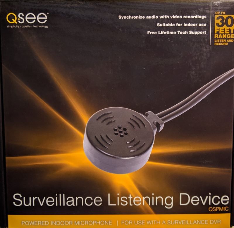 Q-See Powered Indoor Microphone with Cable (QSPMIC)