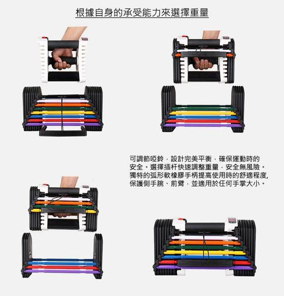 【Accstore】家用調節式啞鈴 2-22.5kg
