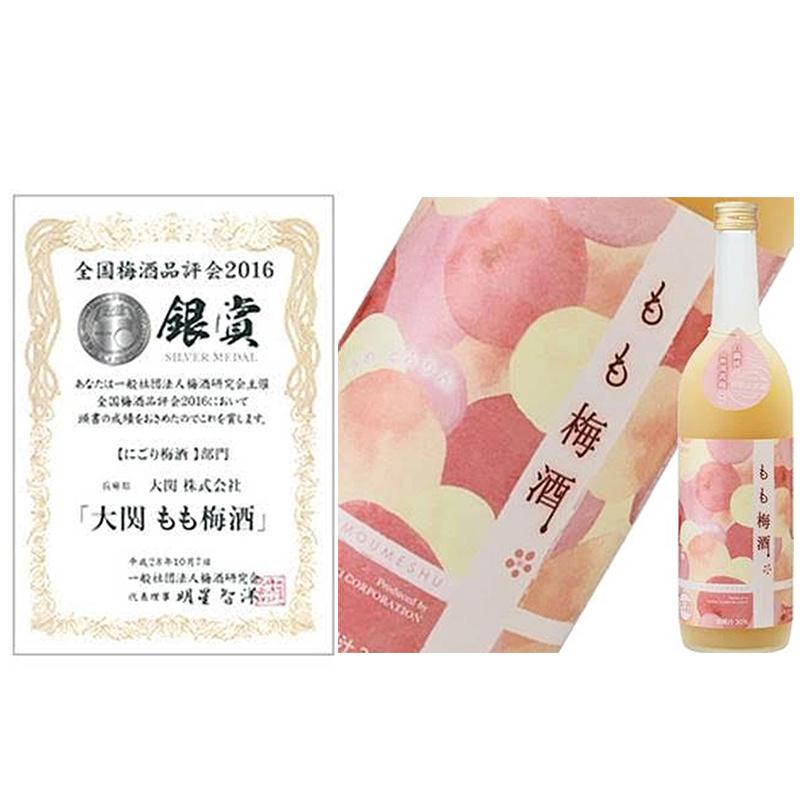 日版 大関 和歌山頂級白鳳桃 南高梅 (銀賞)混合梅酒 720 ml【市集世界 - 日本市集】