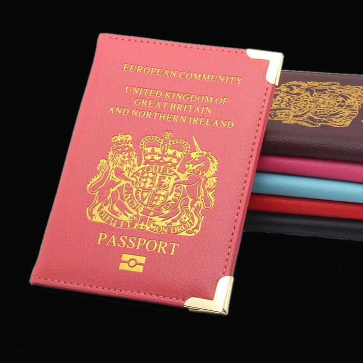 英國護照套 British passport 護照套 紅色