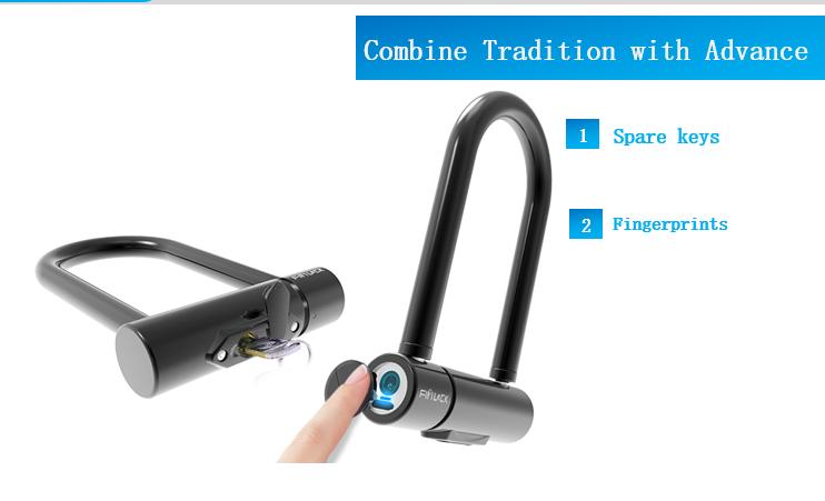 指紋解鎖 單車 商業店鋪 電單車鎖 Fingerprint Lock for Motor Bike and Bicycle