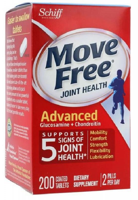 Movefree益節 葡萄糖胺軟骨素再升級添加MSM5合1特強關節配方 [200粒] (美國版)