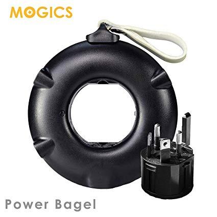 Mogics Power Bagel 旅行用圓形排插 [黑色]