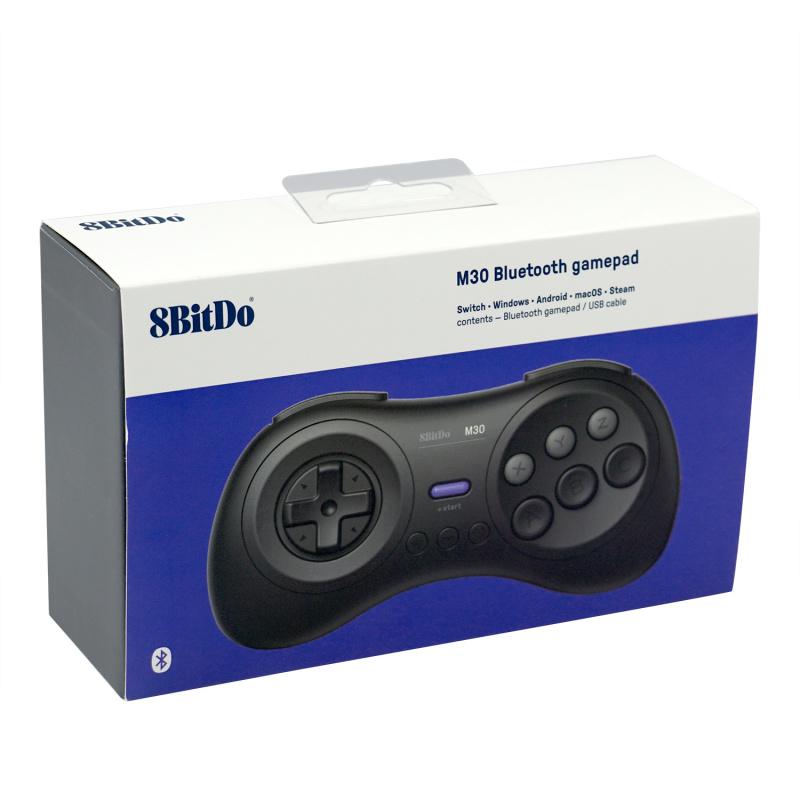 八位堂M30藍牙手柄 8Bitdo M30 Bluetooth Controller MD版 支持Switch電腦MAC Steam格鬥遊戲六鍵位連發