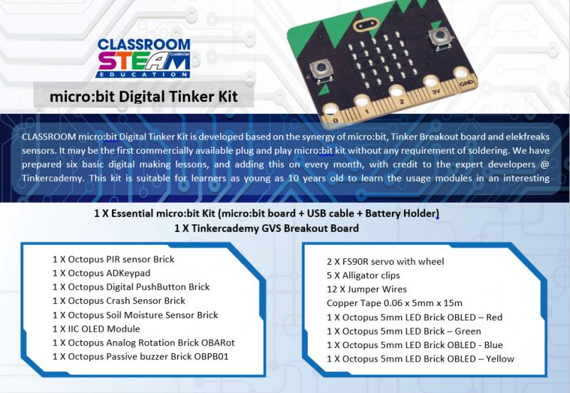 BBC micro:bit Digital Tinker Kit