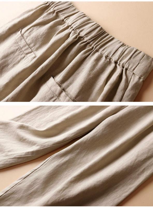 日本SUNFLOWER亜麻パンツ九分褲 [6色] [2尺寸]