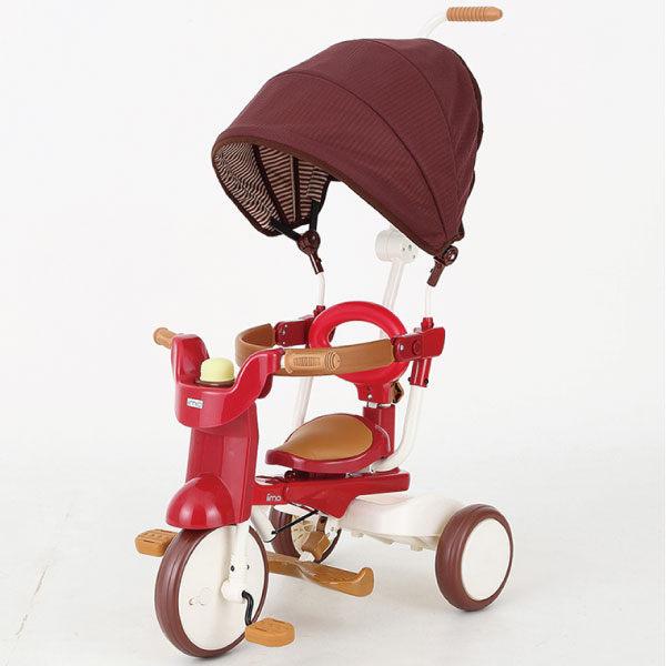 iimo #02 SS 帶蓬 [紅色] 第二代 SS 版日本可摺疊兒童三輪車