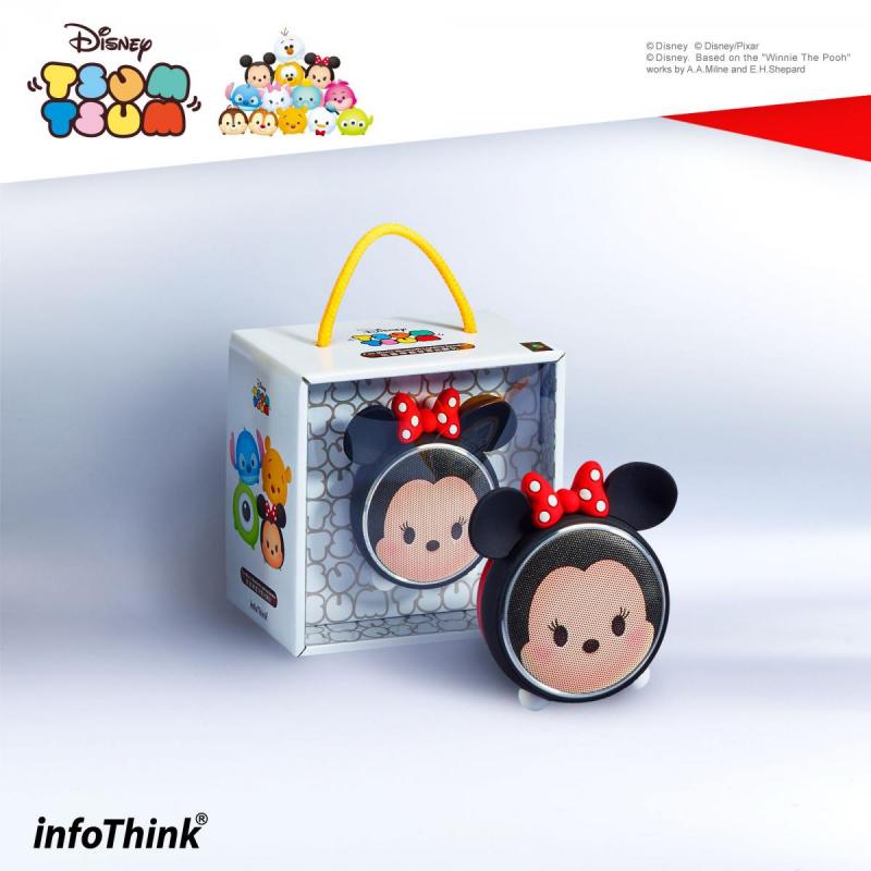 InfoThink BSP100_MI TSUM TSUM玩音樂藍牙燈光喇叭-米妮 Minnie