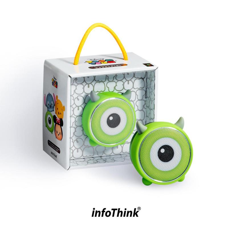 InfoThink BSP100_MW TSUM TSUM玩音樂藍牙燈光喇叭-大眼仔 Mike