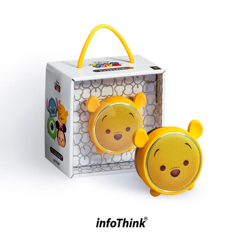 InfoThink BSP100_WP TSUM TSUM玩音樂藍牙燈光喇叭-小熊維尼 Pooh