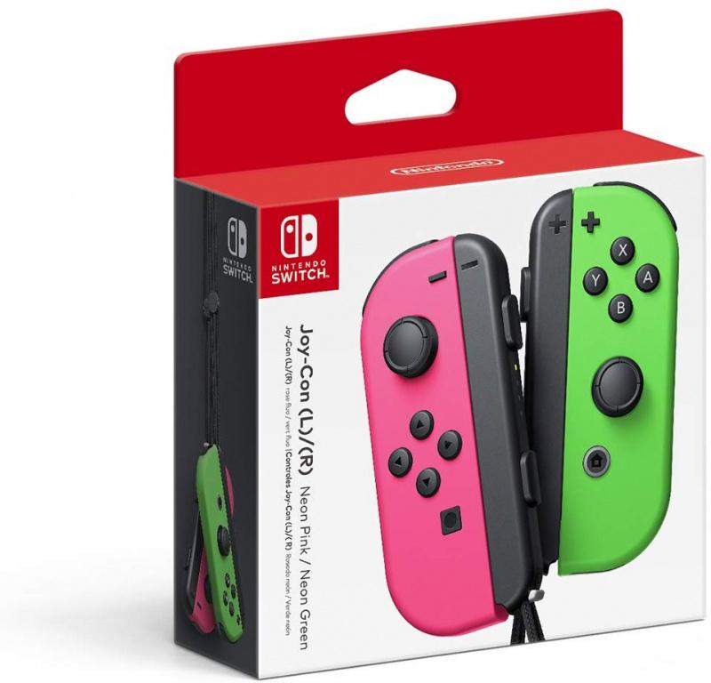 任天堂 - Nintendo Switch 左/右 無線手掣 Joy-Con (粉紅/綠)色 JAPAN VERSION
