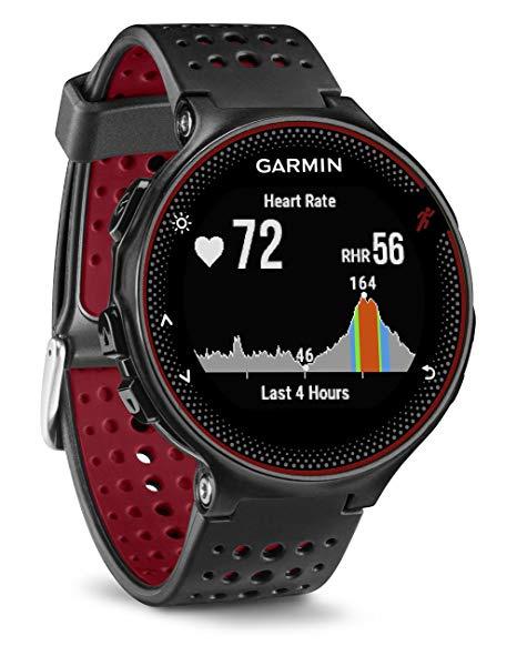 Garmin Forerunner 235 GPS 腕式心率智能手錶(紅色+黑)雙錶帶套裝 [英文版]