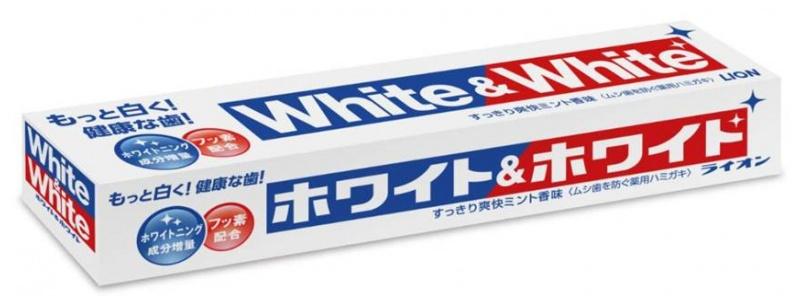 Lion 獅王 美白牙膏(清涼薄荷味) White & White Toothpaste