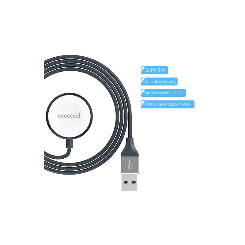 dodocool MFi認證的尼龍編織Apple Watch充電電線 - 1m