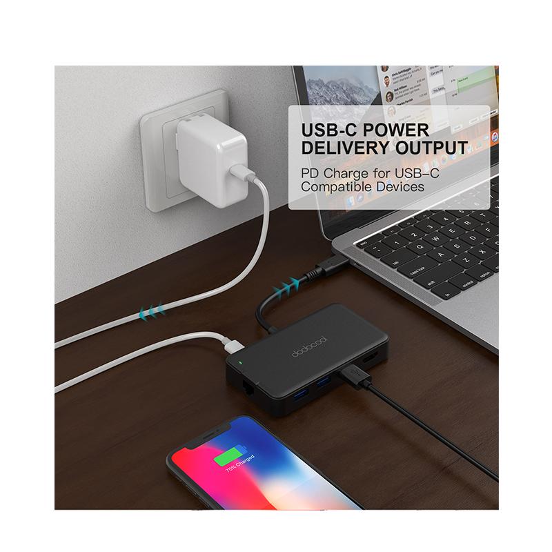 dodocool 7-in-1 USB-C 多功能Hub 擴展器/轉換器 (包電源)