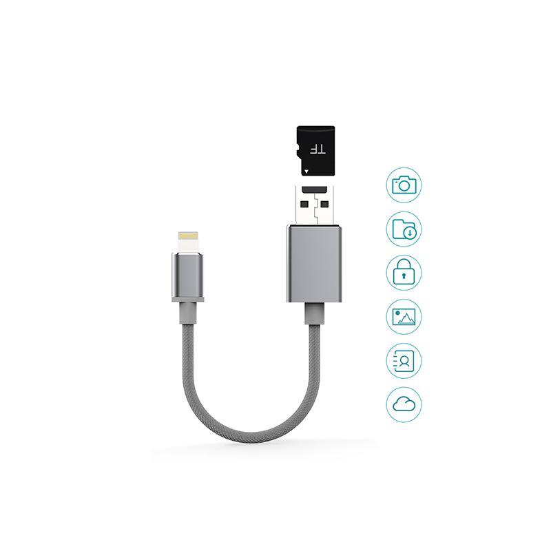 dodocool Lightning 至 USB 記憶咭電纜