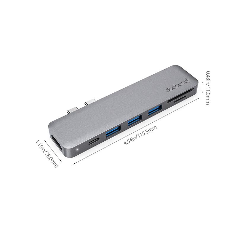 dodocool7合1 USB-C 鋁合金集線器