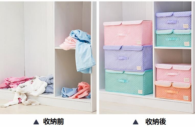 Aisuru 有蓋可折疊收納整理箱 [4色]
