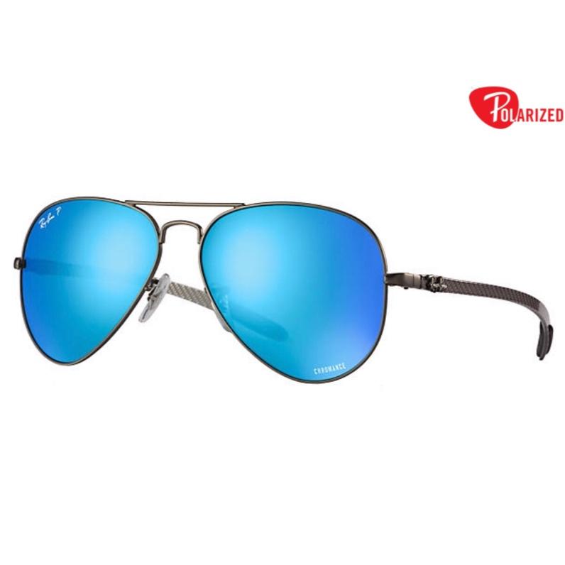 Ray-Ban RB8317CH Aviator Chromance Polarized 碳纖飛機師款偏光藍色戀彩鏡片太陽眼鏡 | 029/A1 藍色鏡框