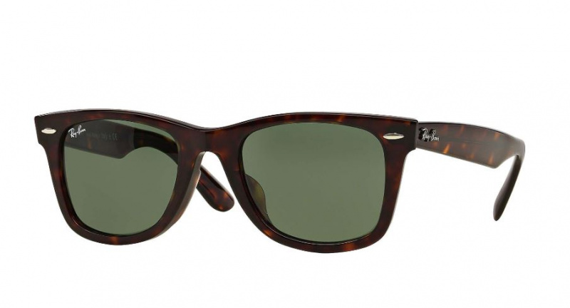 Ray-Ban RB2140F 902 Original Wayfarer Asian Fit 太陽眼鏡 | 玳瑁色鏡框及墨綠色G-15鏡片